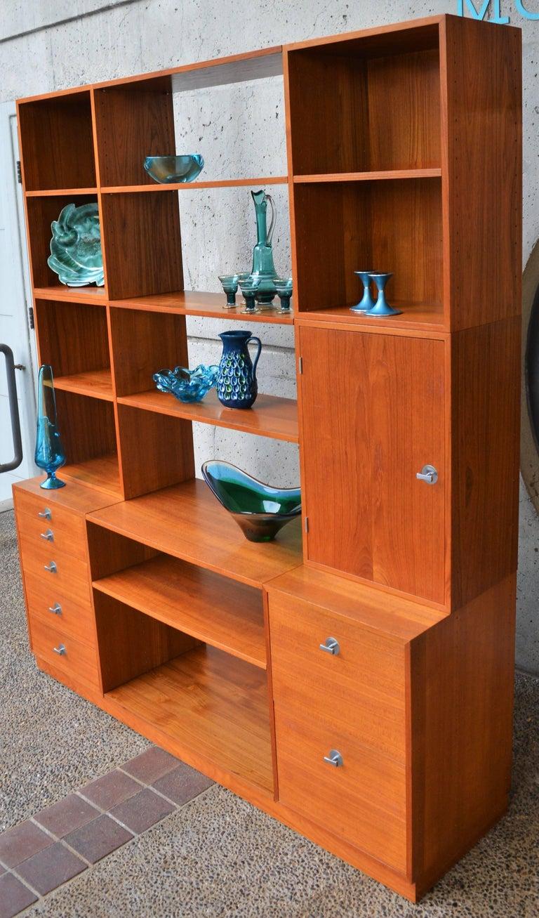 Finn Juhl Modular Teak Wall Unit / Office Shelving for France & Son For Sale 1