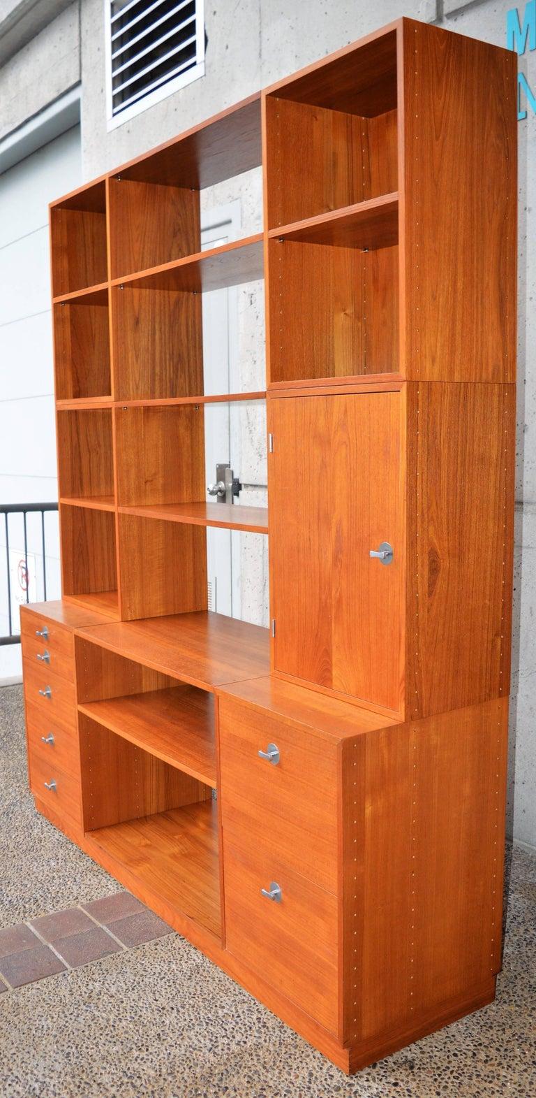 Mid-Century Modern Finn Juhl Modular Teak Wall Unit / Office Shelving for France & Son For Sale
