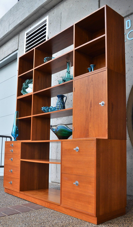 Finn Juhl Modular Teak Wall Unit / Office Shelving for France & Son For Sale 2