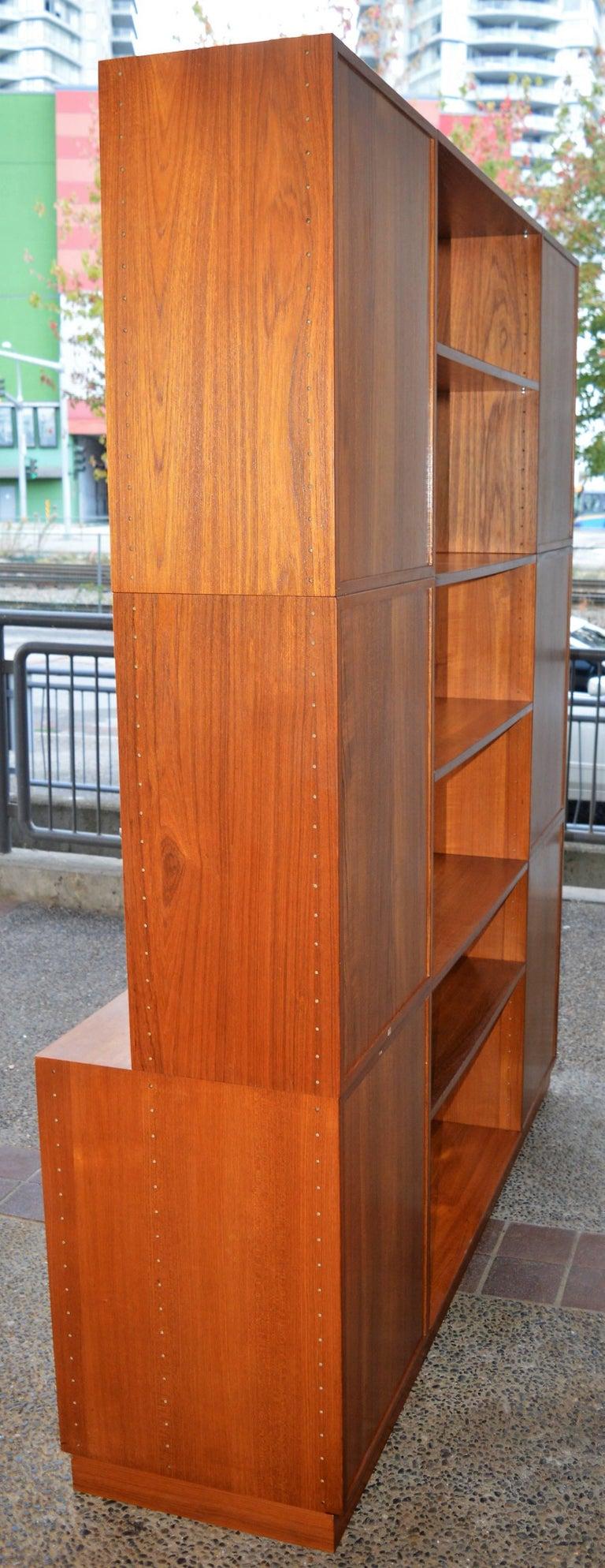 Finn Juhl Modular Teak Wall Unit / Office Shelving for France & Son For Sale 3