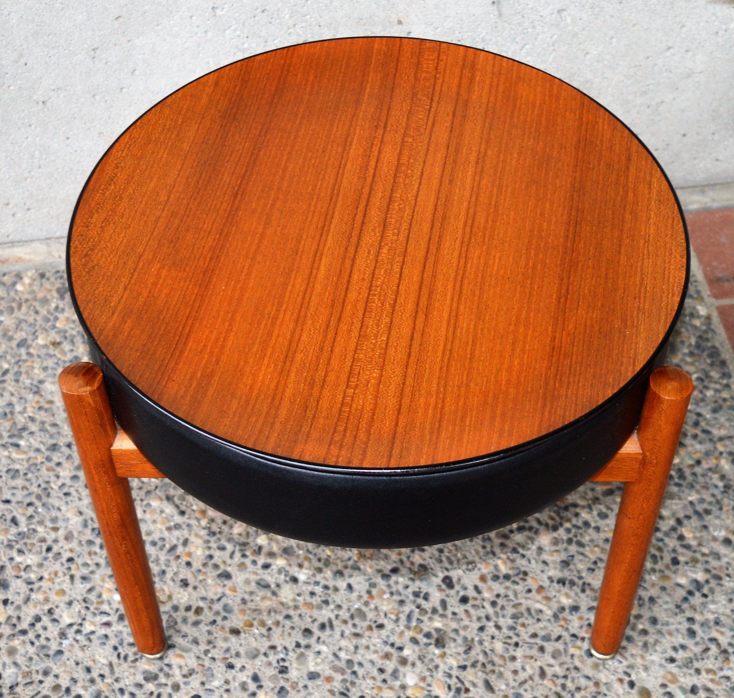 Danish Teak Stool Or Table By Hugo Frandsen For Spottrup