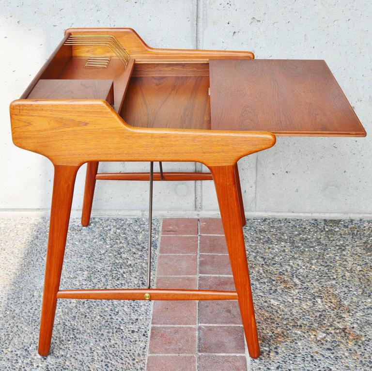 Stunning Minimalist Svend Madsen Danish Modern Teak Desk 2