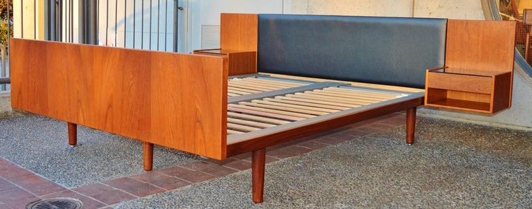 Impeccable Hans Wegner Teak Queen Size Platform Bed At 1stdibs