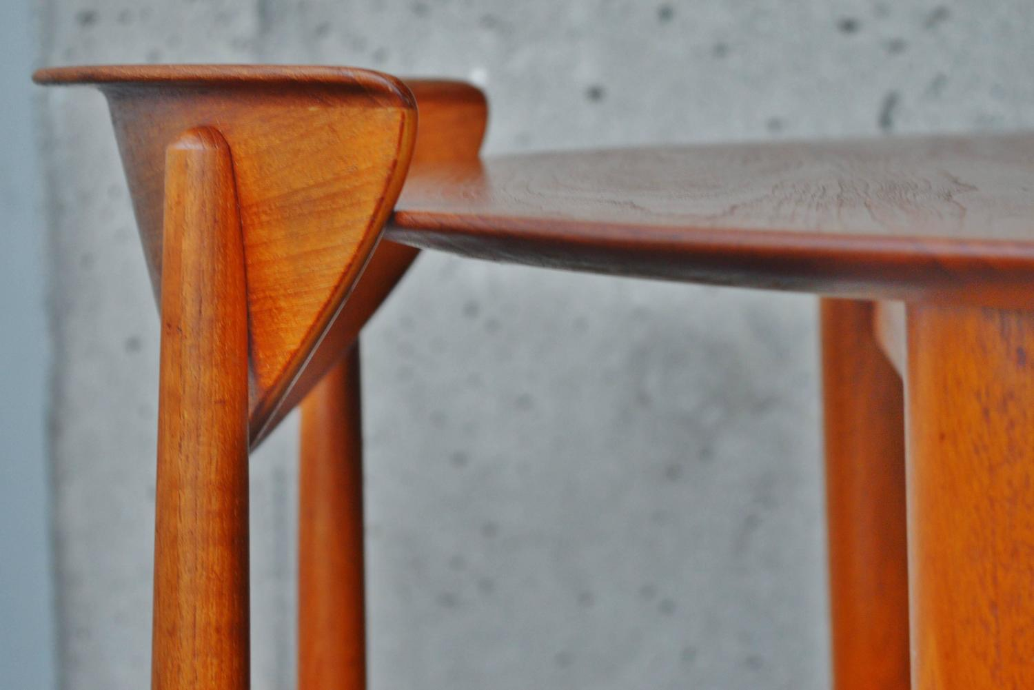 sleek solid teak dining set by hvidt and molgaard at 1stdibs