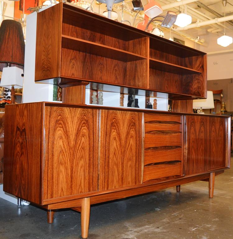 Stunning Rosewood Buffet And Hutch In The Style Of Arne Vodder 2