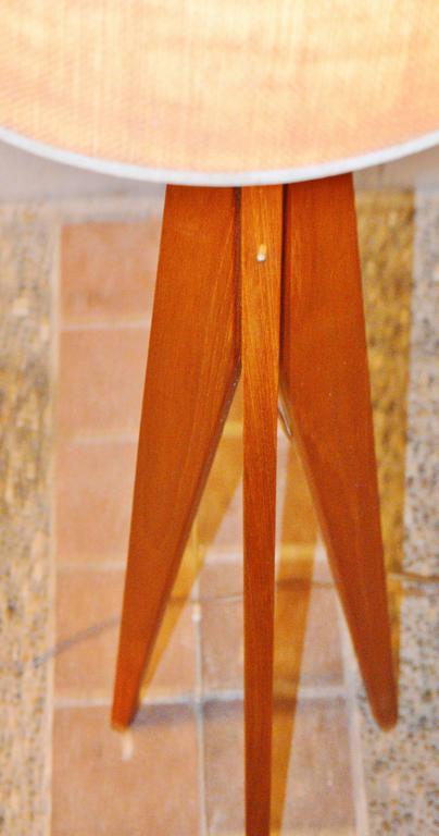 Teak Tripod Floor And Table Lamps Danish Modern At 1stdibs