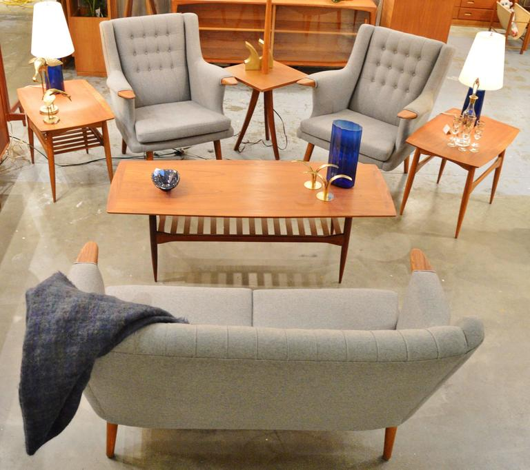 Danish Baby Bear Teak Armchairs And Loveseat Sofa At 1stdibs