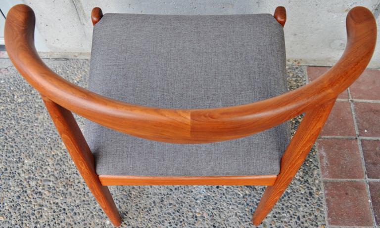 Svend Madsen Teak Cow-Horn Dining Chairs, Set of Six 8