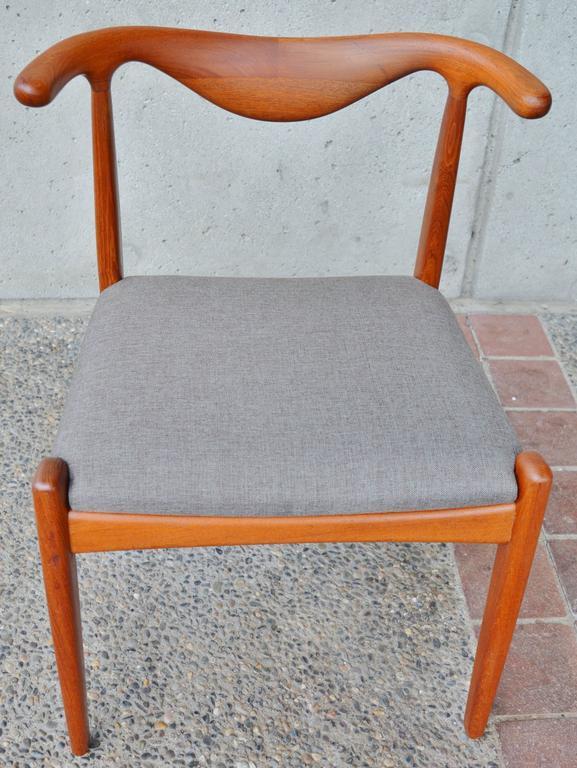 Svend Madsen Teak Cow-Horn Dining Chairs, Set of Six 10