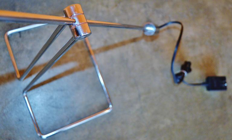 Mid-20th Century Pair of Abo Randers Chrome Floor Lamps For Sale