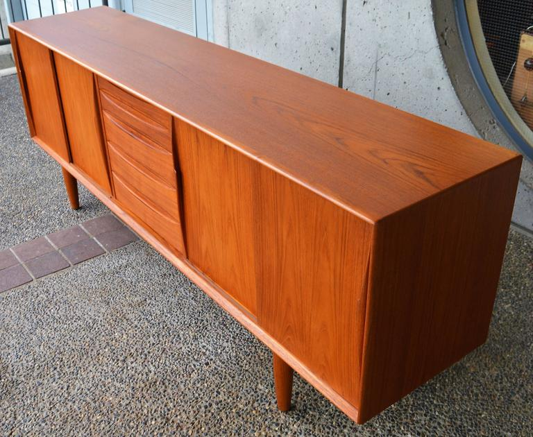 Danish Teak Sideboard Inspired by Arne Vodder for Dyrlund In Excellent Condition For Sale In New Westminster, British Columbia