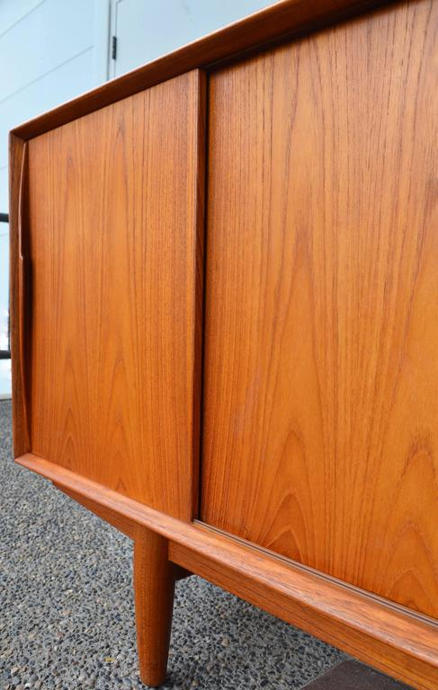 Mid-20th Century Danish Teak Sideboard Inspired by Arne Vodder for Dyrlund For Sale