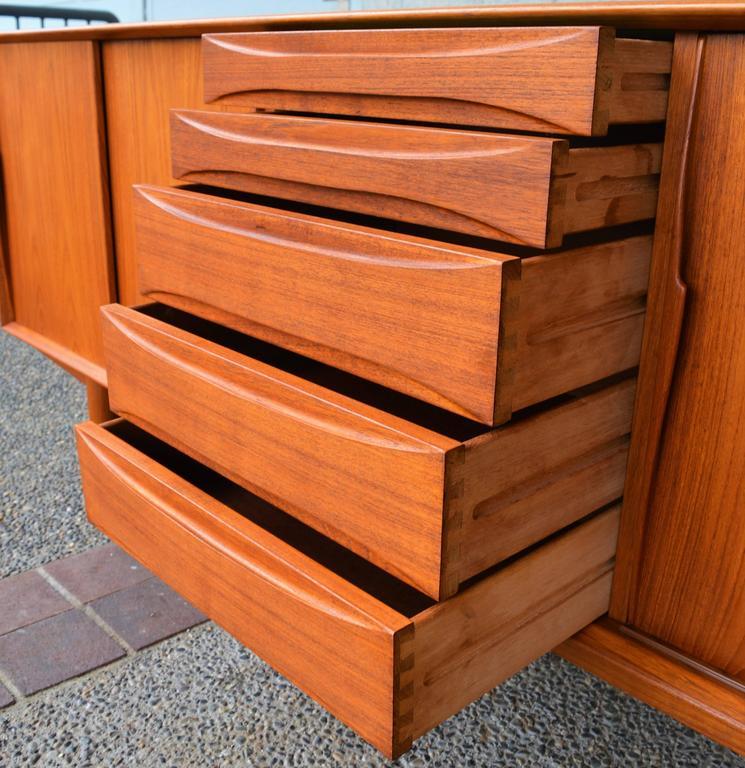 Danish Teak Sideboard Inspired by Arne Vodder for Dyrlund For Sale 2