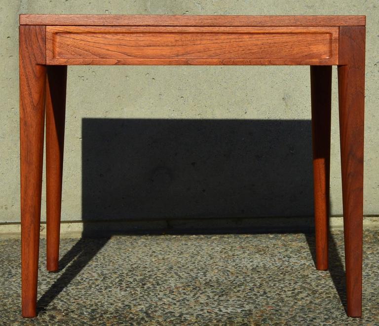 Mid-Century Modern Finn Juhl Teak Diplomat Side Table for France & Son, Denmark For Sale