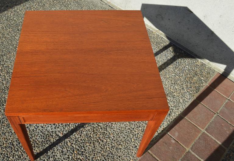 Finn Juhl Teak Diplomat Side Table for France & Son, Denmark For Sale 1