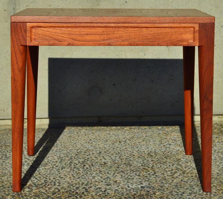 Finn Juhl Teak Diplomat Side Table for France & Son, Denmark For Sale 3