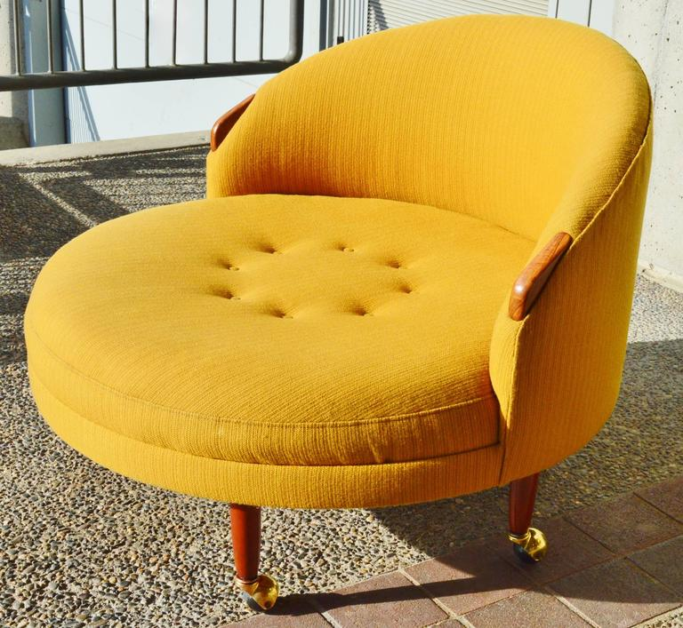 Mid Century Modern Adrian Pearsall Havana Round Chair With Armrests And  Legs U0027Craft Associates