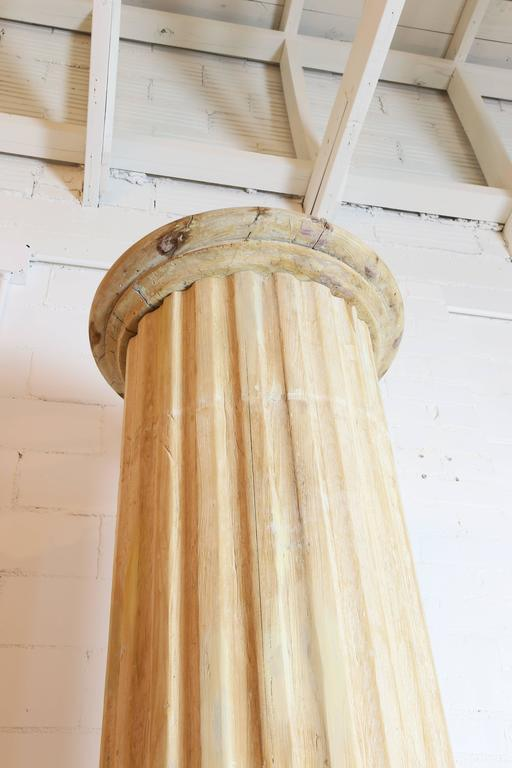 North American Architectural Pine Columns, Pair For Sale