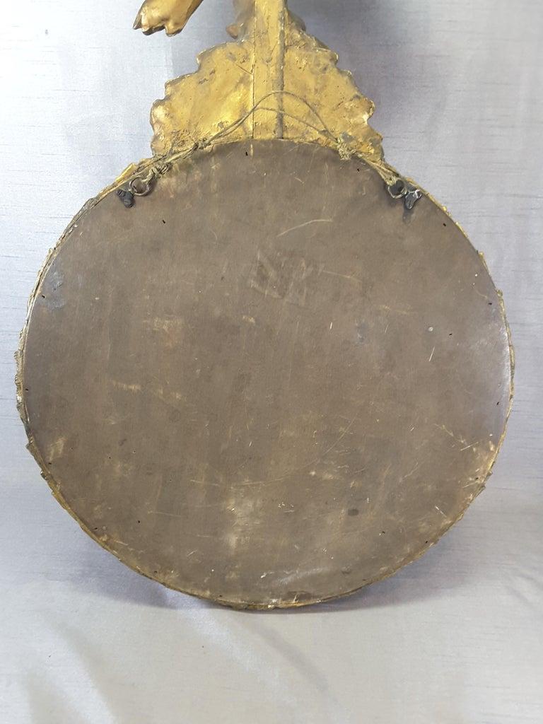 English Regency Eagle Gilt Convex Bullseye Mirror For Sale 5