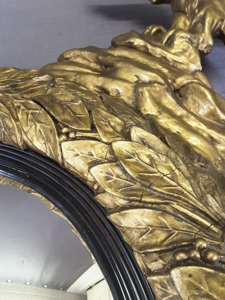 English Regency Eagle Gilt Convex Bullseye Mirror For Sale 7