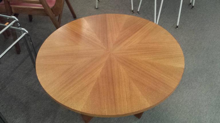 Charmant Danish Teak Circular Mid Century Coffee Table, With Pie Shaped Veneered  Top, On