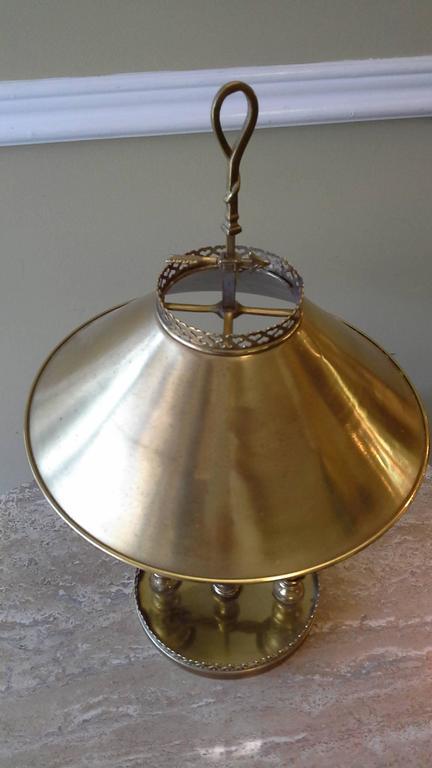 Brass Double Light Desk/Banquet Lamp, Metal Shade Heart Pierced ...
