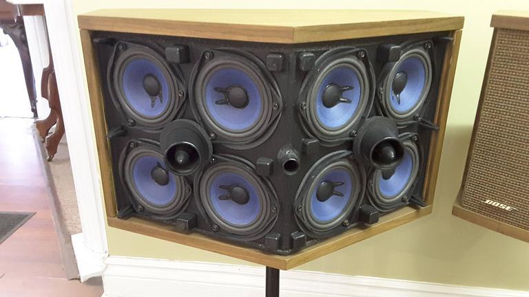 Pair Of Bose 901 S Walnut Speakers On Eero Saarinen Tulip
