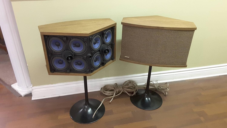 Pair Of Bose 901s Walnut Speakers On Eero Saarinen Tulip Pedestals Using 901 Equalizer Wiring Diagram Circa 1968 At 1stdibs