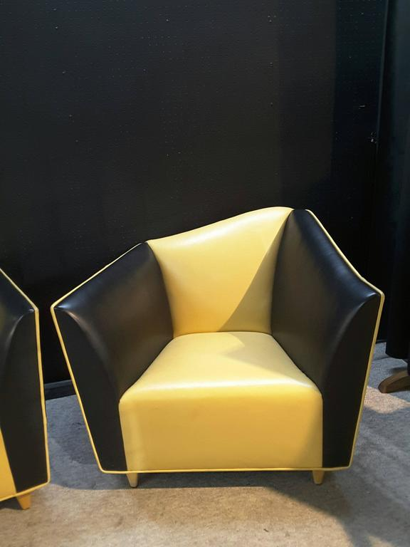 Pair Of Lounge/Club Chairs, By The Bright Chair Company, New York