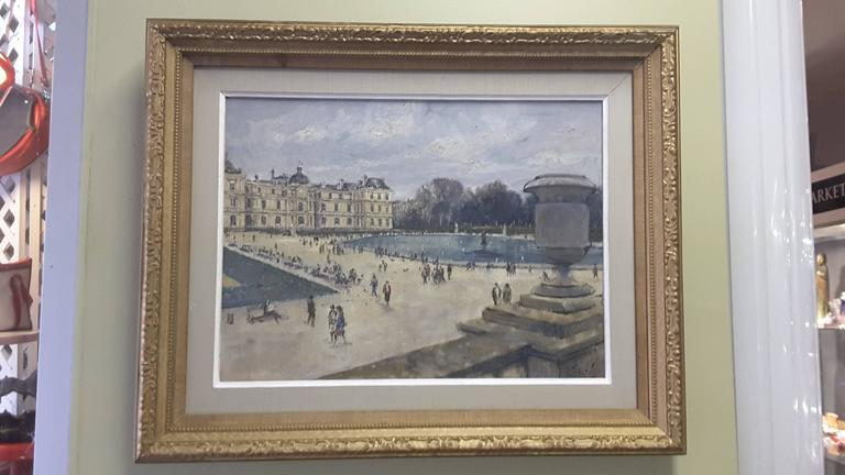 Expressionist Impressionistic Style Painting of Le Jardin des Tuileries, Paris, France For Sale