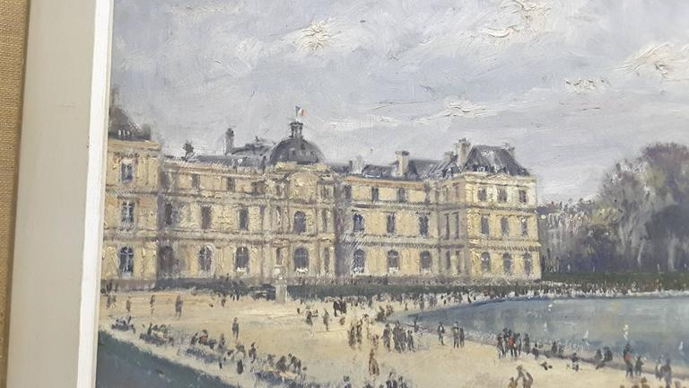 Impressionistic Style Painting of Le Jardin des Tuileries, Paris, France In Good Condition For Sale In Ottawa, Ontario