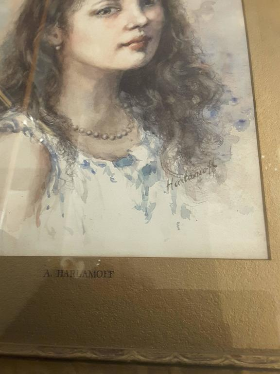 Watercolor in the Manner of Alexei Alexeievitch Harlamoff Russian, 1842-1915 For Sale 3