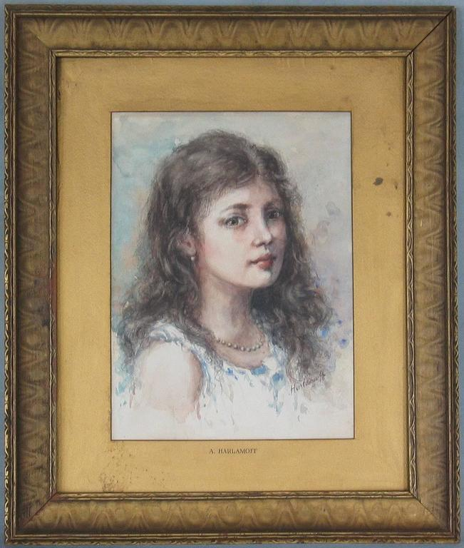 Renaissance Watercolor in the Manner of Alexei Alexeievitch Harlamoff Russian, 1842-1915 For Sale