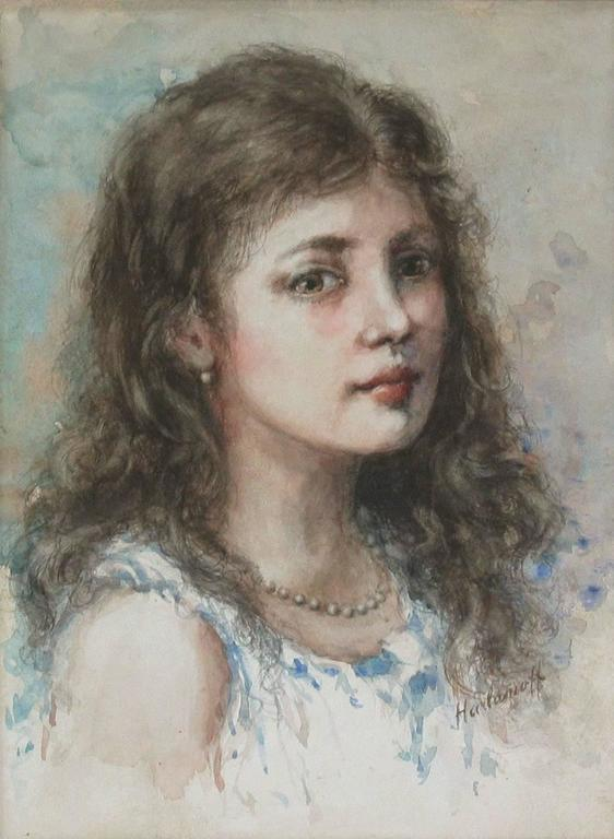 Watercolor in the Manner of Alexei Alexeievitch Harlamoff Russian, 1842-1915 For Sale 4