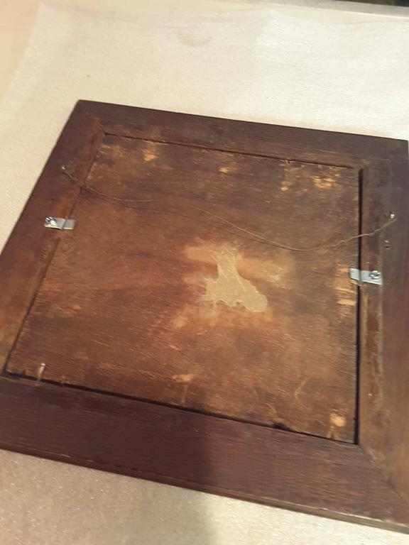 Wood Nice Three Horse Carved Pine Panel Mounted in Oak Frame Signed W.B.Lintton For Sale