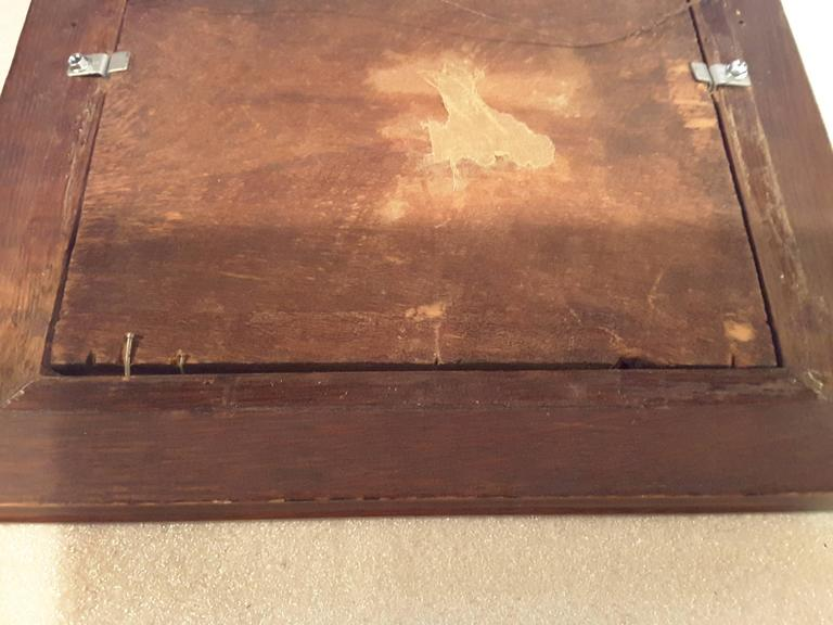 Nice Three Horse Carved Pine Panel Mounted in Oak Frame Signed W.B.Lintton For Sale 3