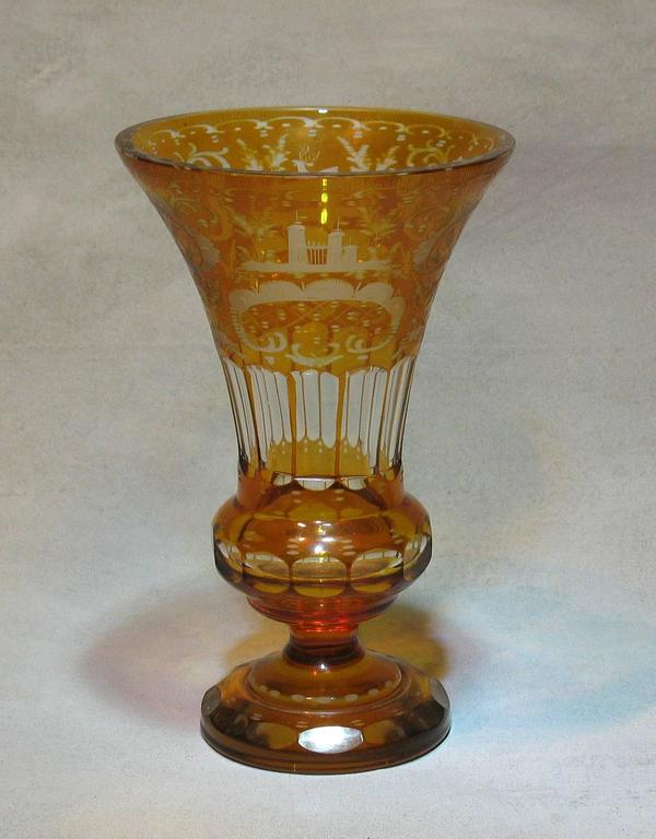 Antique Bohemian Amber Flashed Cut-Gl Vase For Sale at 1stdibs on flower swags for sale, dry flowers for sale, stands for sale, glass for sale, bar accessories for sale, flower art for sale, flower buckets for sale, plants for sale, candlesticks for sale, home decor for sale, flower bouquets for sale, tiles for sale, flower vessels for sale, clear flower vases on sale, artificial flowers for sale, porcelain flowers for sale, marble for sale, chocolates for sale, jugs for sale, figurines for sale,