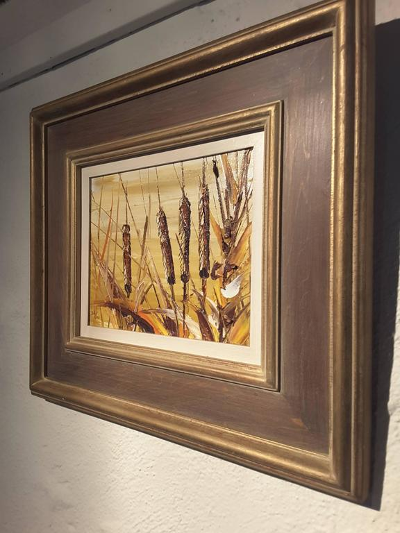 Bill Zuro Acrylic on Panel, Titled Cat Tails, Canadian Artist For Sale 2