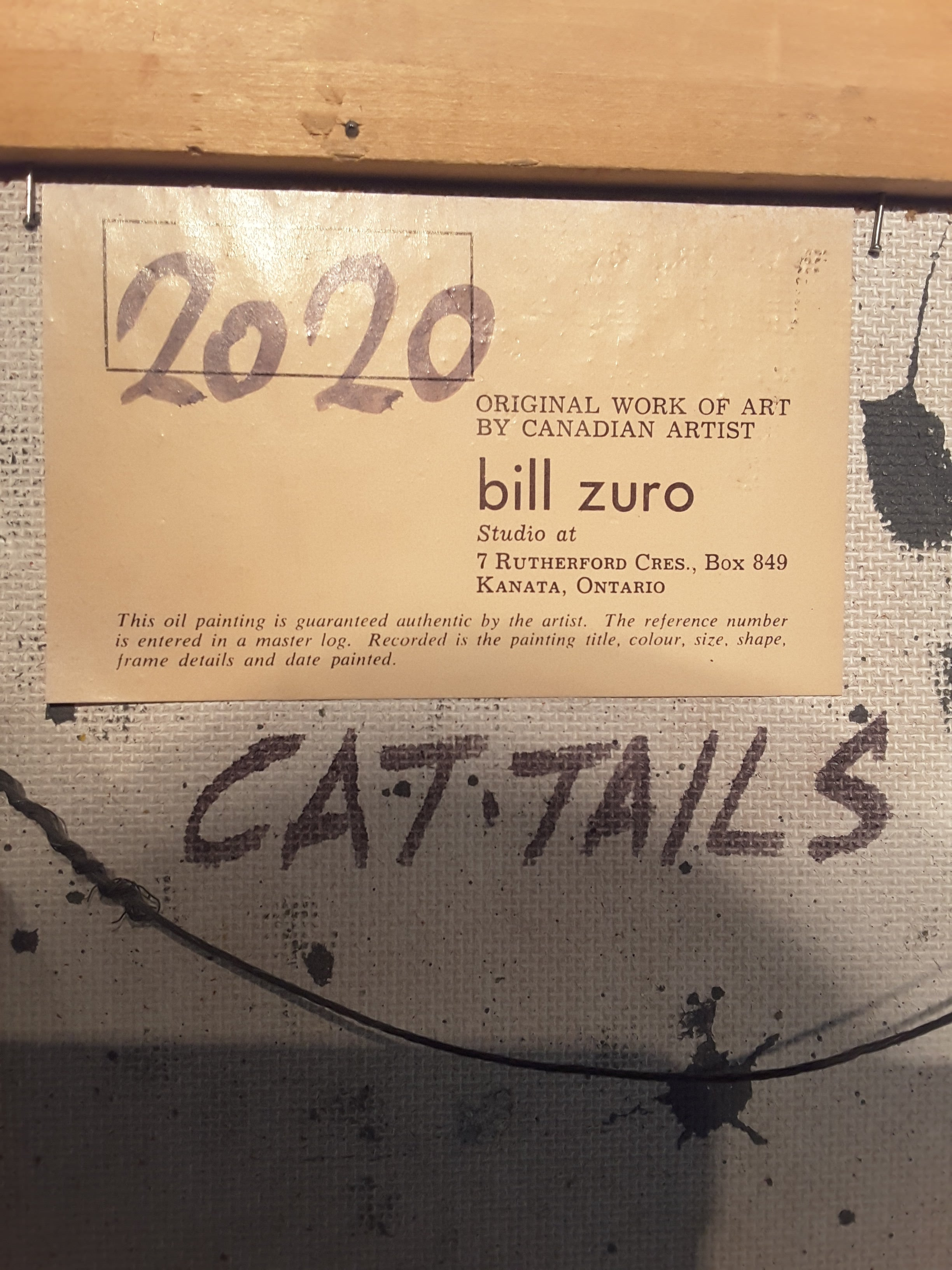 Bill Zuro Acrylic on Panel, Titled Cat Tails, Canadian Artist For ...