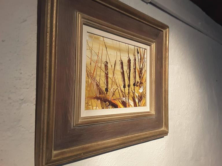 Bill Zuro Acrylic on Panel, Titled Cat Tails, Canadian Artist For Sale 1