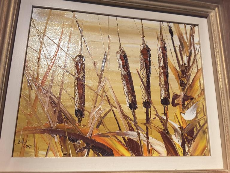 Bill Zuro Acrylic on Panel, Titled Cat Tails, Canadian Artist For Sale 4