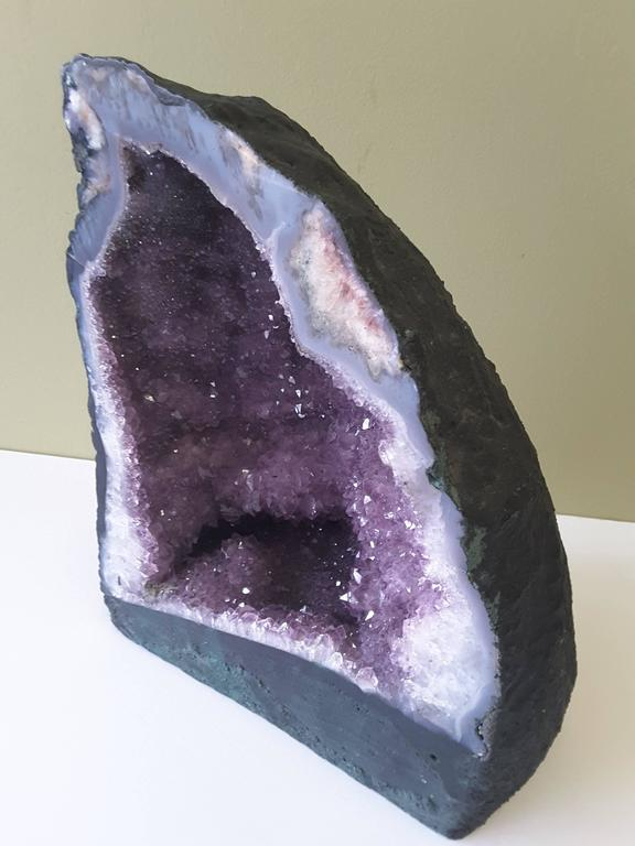 Green Amethyst Geode : Large brazilian cathedral amethyst geode for sale at stdibs