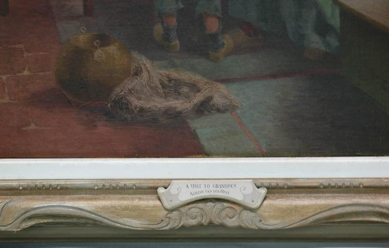 Superior Dutch Oil on Canvas by Adrian Van Der Hest, Amsterdam In Excellent Condition For Sale In Ottawa, Ontario