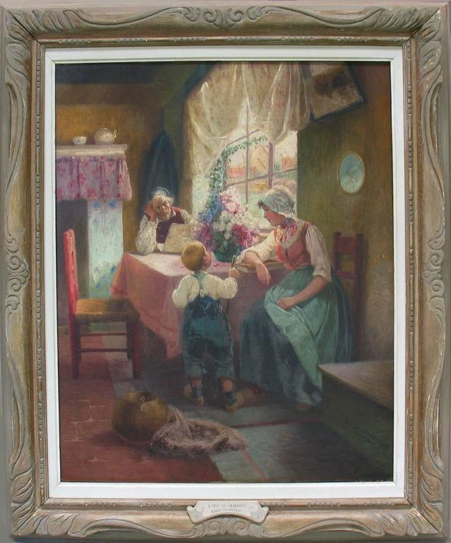 Superior Dutch Oil on Canvas by Adrian Van Der Hest, Amsterdam For Sale 2