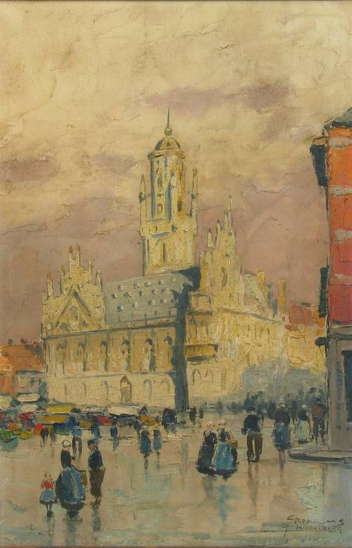 German Gerhard Cohn Roemers, Oil on Canvas Painting For Sale