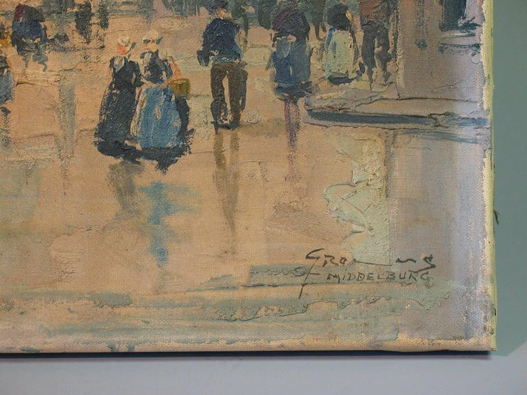 20th Century Gerhard Cohn Roemers, Oil on Canvas Painting For Sale