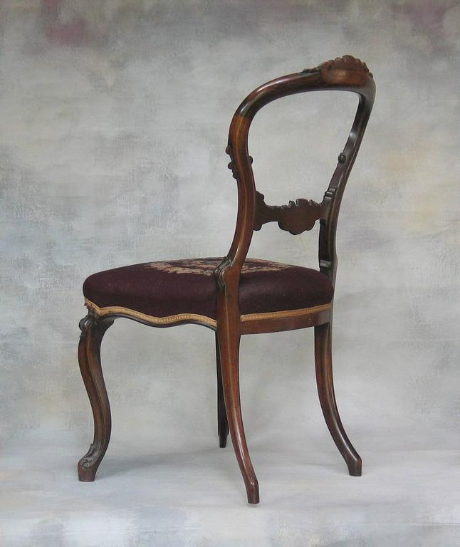 Incredible Mid Victorian Rocco Revival Rosewood Side Chair With Needlepoint Upholstery Creativecarmelina Interior Chair Design Creativecarmelinacom