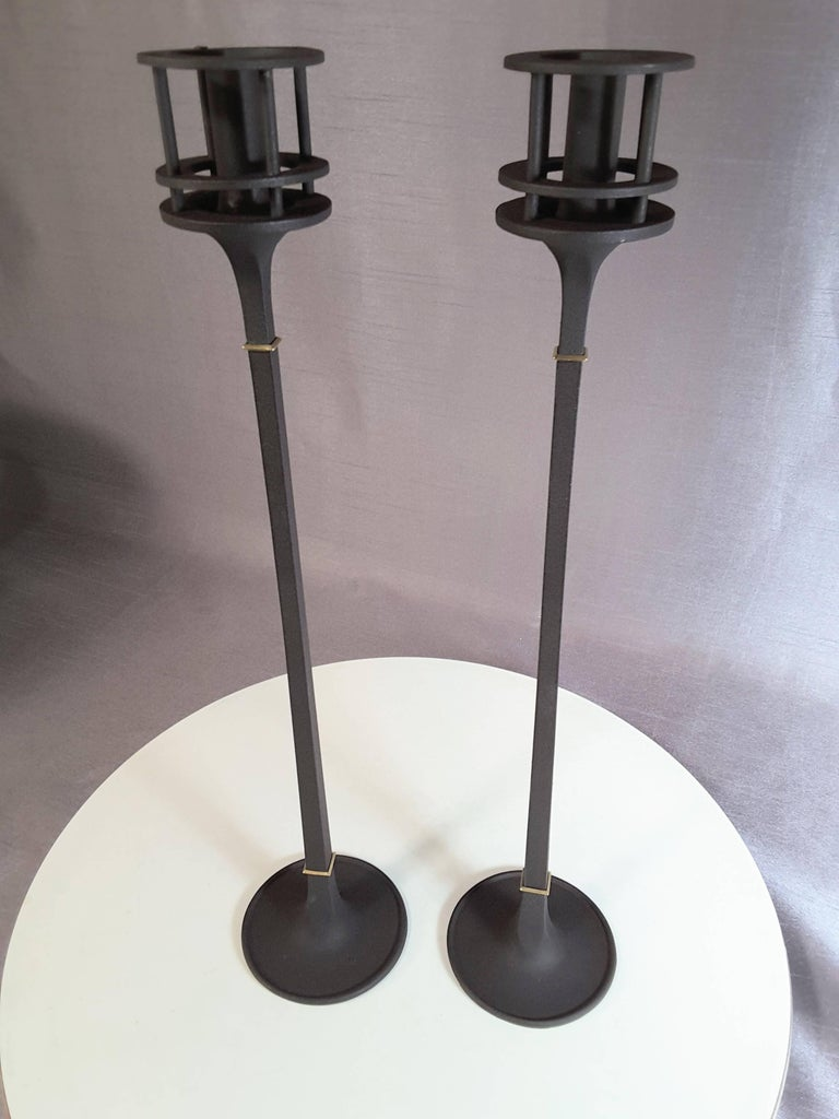 Iron Candle Stand Designs : Dansk designs s iron candlesticks by jens quistgaard