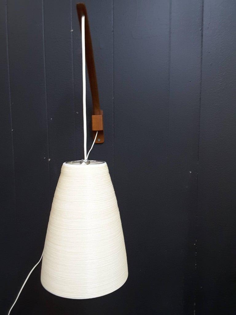 Lotte Teak Mid-Century Swing Arm Adjustable Wall Light For ...