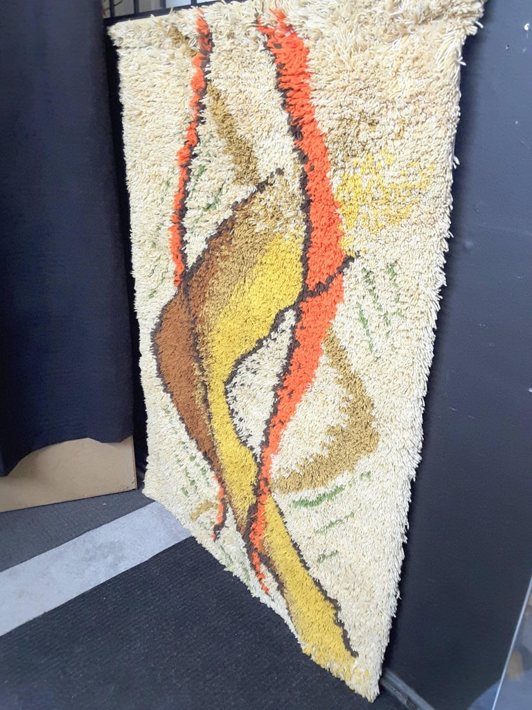 Scandinavian Rya Danish Modern 1960 S Wool Rug For Sale At